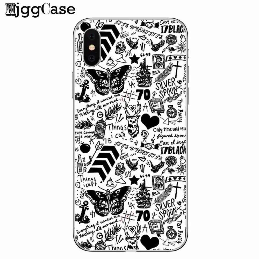 Harry Styles Tato UltraThin silikon Kembali Kulit Penutup untuk iPhone X 5S 6 6S 8 plus Soft Gel TPU Cover Case Coque