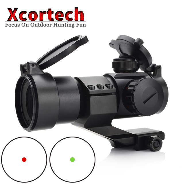 Tactical M3 Red Dot Hunting Optical Sight Scope 1x Collimator Sight Rifle Reflex Red Dot Shooting L Shaped Mount For Air Gun