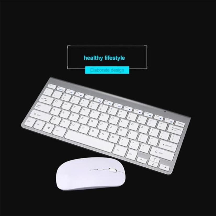 Factory Price Mosunx New Ultra-thin mini keyboard suit 2.4 G wireless keyboard Drop Shipping Drop Shipping Good Quality Mar8