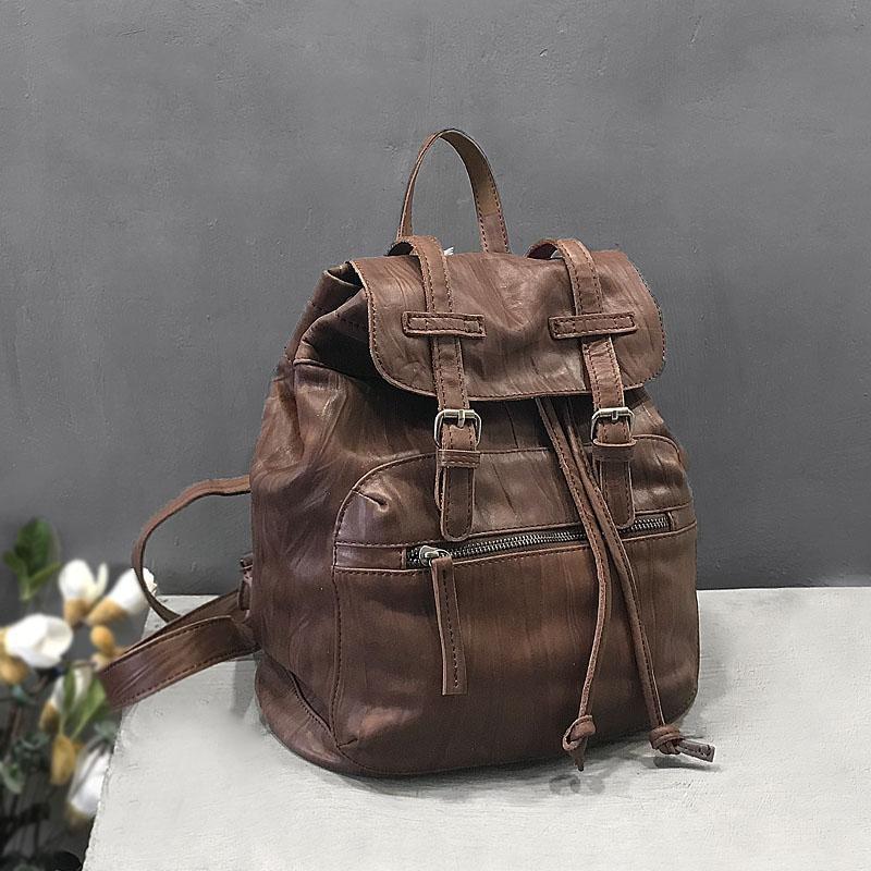 Vendange original retro backpack handmade genuine leather bag fashion women bag 2463 vendange original handmade simple leisure female genuine cowleather knapsack multifunctional knapsack2305
