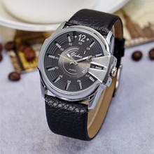 лучшая цена Fashion Men & Women Sport Watches Luxury Brand Leather Strap Lover's Clock Casual Quartz Wristwatches Masculino Femme