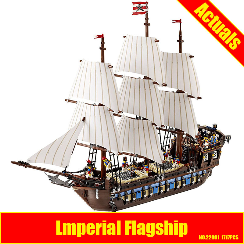 NEW LEPIN 22001 Pirate Ship Imperial warships Model Building Kits Block Briks Gift 1717pcs Compatible DIY 10210 Educational Toys in stock new lepin 22001 pirate ship imperial warships model building kits block briks toys gift 1717pcs compatible10210