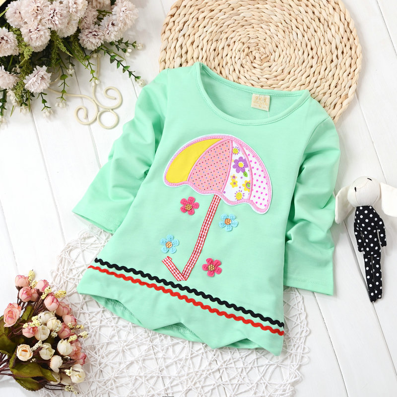 2016 Szpring autumn kids t shirt girls font b bottoming b font t shirt Korean kids