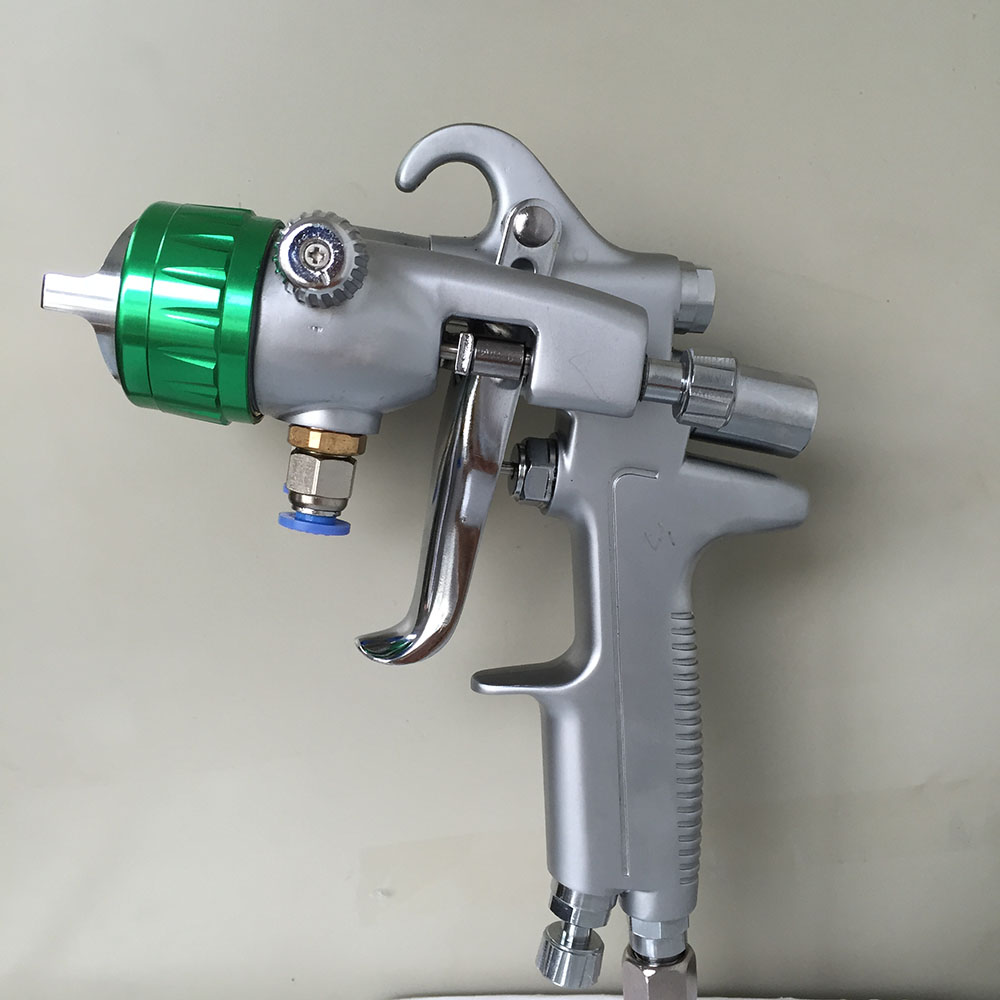 SAT1189 professional power paint gun dual head high pressure car painting gun double nozzle air cap stainless steel nozzle gun цена