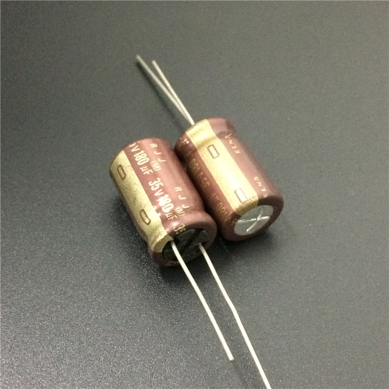 10pcs 180uF 35V Japan ELNA RJJ Series 10x16mm Low Impedance High Reliability 35V180uF Audio Grade Capacitor