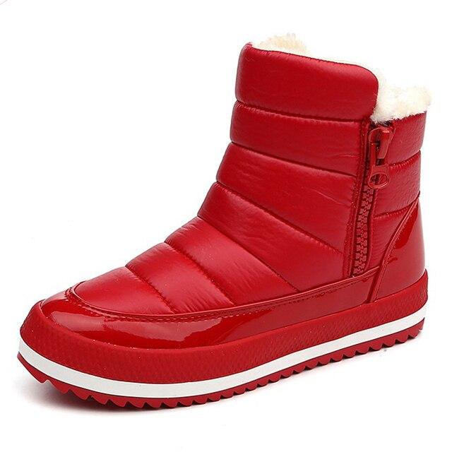 Women Boots 2017 Warm Winter Boots Women Shoes Ankle Boots Cotton Waterproof Winter Shoes