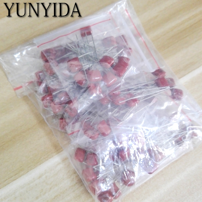 KIT  100PC=10value*10pcs Metallized Polyester Film Capacitors CBB Assortment Kit  100V  10nF ~ 470nF