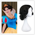 Cosplay Wig For Snow White Short Black Hair Synthetic Hair Wigs Halloween Holiday Costume Party Pelucas Peruk