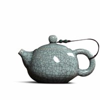 Chinese Office Small Teapot Ice Cracked Glaze Single Pot Purple Sand Ceramic Kung Fu Tea Pot Filter Home Drink 140ML