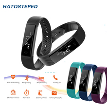 Bluetooth ID115 Smart Bracelet Tracker Step Counter Outdoor Activity Sports Waterproof Stopwatch Step Remote Control Photograph