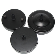DIY Lighting Accessories 10cm Assembly Parts a Single head Chandelier Ceiling Plate black color for loft pendant light