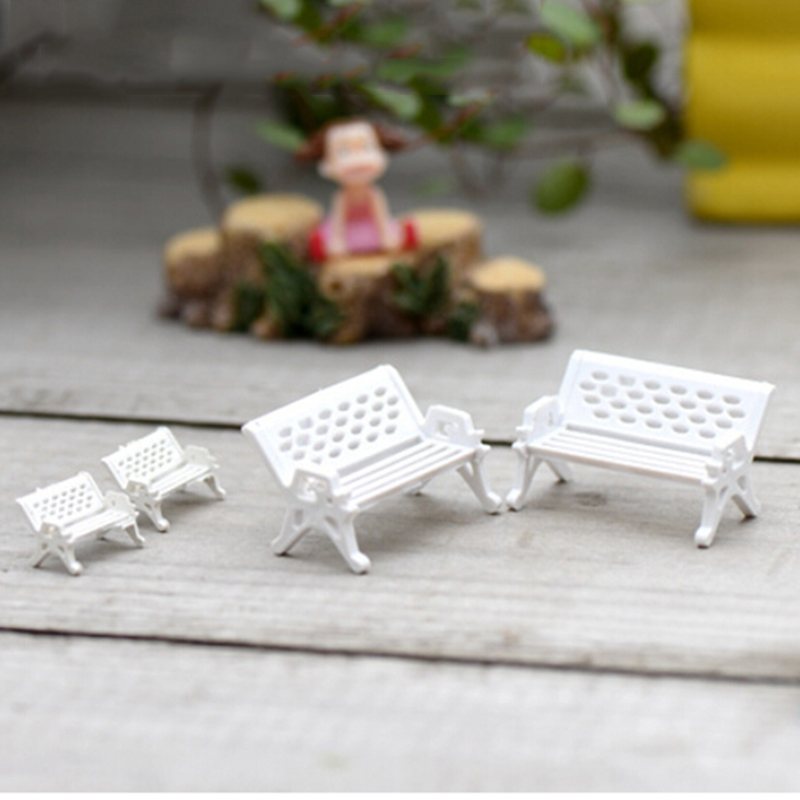 1Pcs 3 Sizes white chair doll house miniatures lovely c