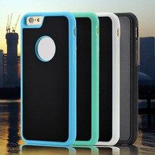 Chegada nova para o iphone 6 6 s 6 plus tpu quadro antigravidade Tampa De Sucção Nano mágica Anti gravidade Adsorvido car Hard Case Shell