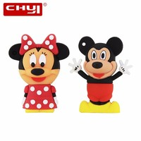 CHYI Cartoon Mickey Mouse USB Flash Drive Pen Drive Cute Mickey And Minne Memory Stick 4