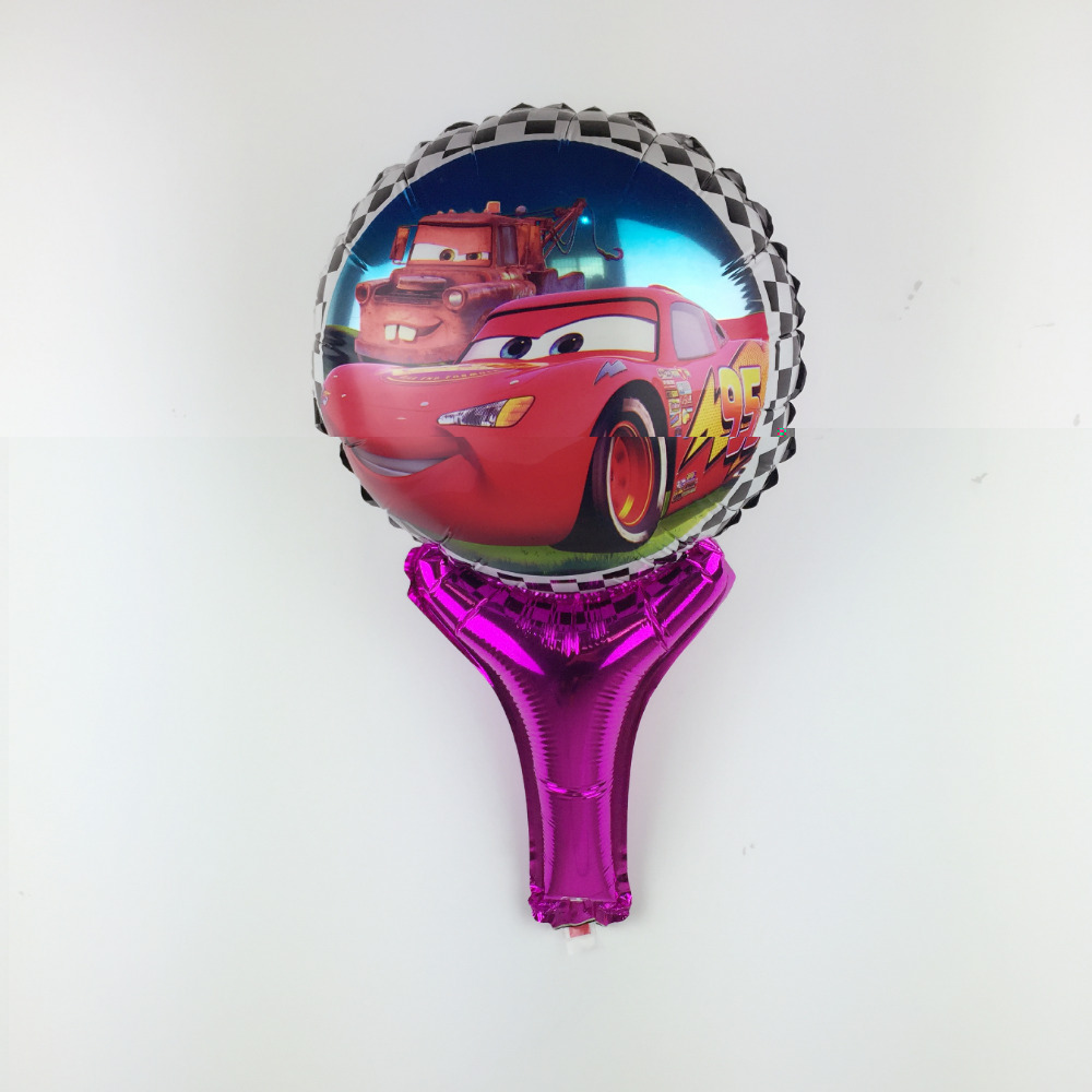 XXPWJ Free Shipping New hand-held car aluminum balloon children's toys party bir