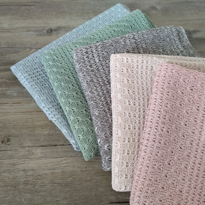 Newborn Stretch Wrap Photography Props Knit Fabric Hollow