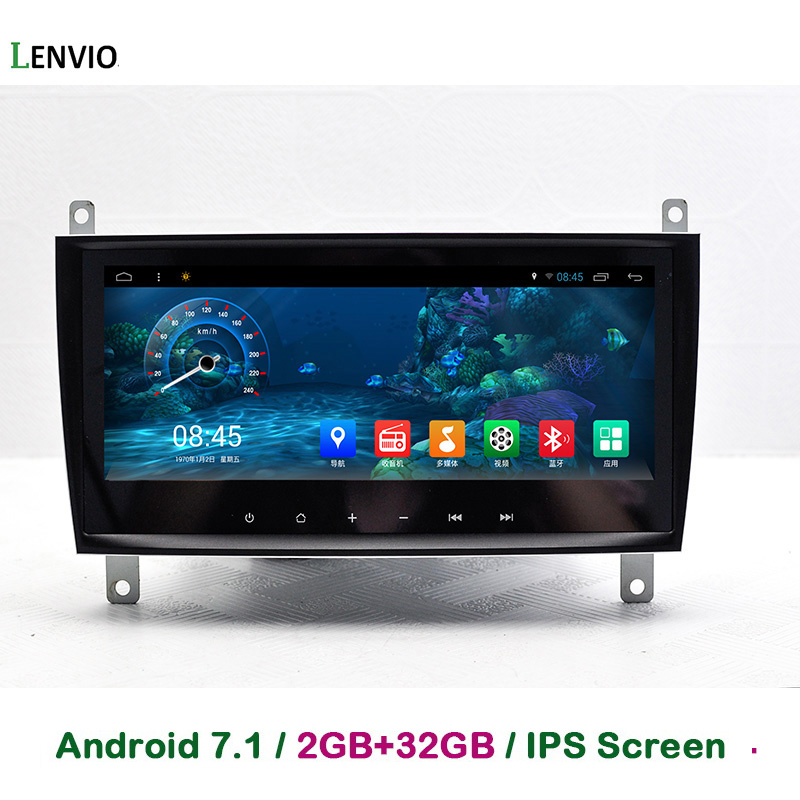 Lenvio ips Оперативная память 2 GB + 32 Гб 4 ядра Android 7,1 автомобиль gps DVD плеер для Mercedes Benz CLS W219 2006 2008 CLK W209 2006 2011 радио