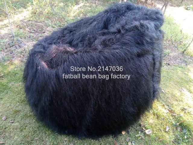 ... Cover Indoor Armchair  buy popular 59e37 97900 LIVING ROOM LUXURY LUSH  SOFT SHAGGY ALPACA FAUX FUR BEAN BAG POUF ... 96be6aaa0662b