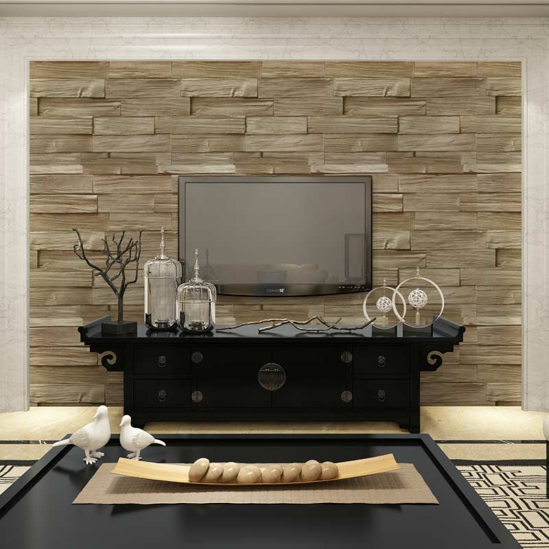 tienda online estilo chino de madera de imitacin de ladrillo papel pintado del vinilo d lavable pvc en relieve saln cocina decoracin del hogar