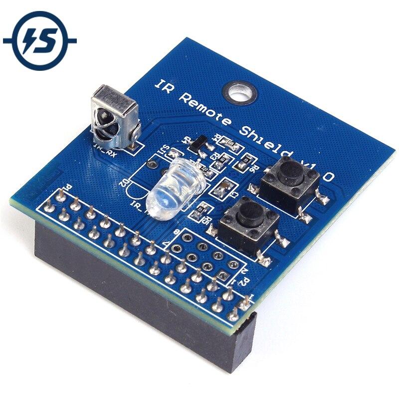 38 khz IR Infrarot Control Expansion Board Transceiver Empfänger Sender Schild DIY Doppel IR Emitter Für Raspberry Pi