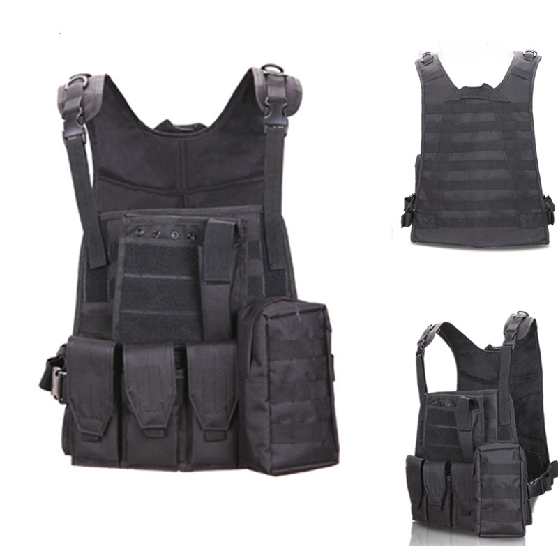 Camouflage hunting military tactical vest hunting vest war MOLLE system hammer body Moore armor CS outdoor jungle equipment