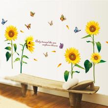 Houseen Sunflower Wall Stickers Living Room Diy