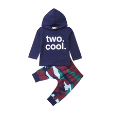 все цены на Toddler Kids Baby Boy Hooded T-shirt Tops Camo Pants 2Pcs Outfits Set Clothes 2019 онлайн