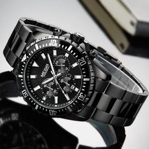 Image 5 - Megir Men Watch Sport Stainless Steel Analog Quartz Wristwatch Multifunction Chronograph Relojes Masculino Hombre Clock man 2018