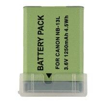 Batería recargable nueva cámara de vídeo para canon nb-13l powershot g7x 3.6 v 1250 mah cámara videocámaras accesorios de reemplazo