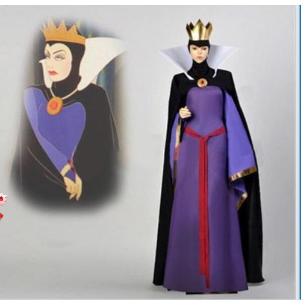 Snow White Evil Queen  Dress Adult Women Halloween Anime Cosplay Costume Custom made