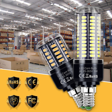E27 LED Lamp 220V E14 LED Corn Bulb 28 40 72 108 132 156 189leds Light 5736SMD NO Flicker Home Bombillas For Chandelier Lighting