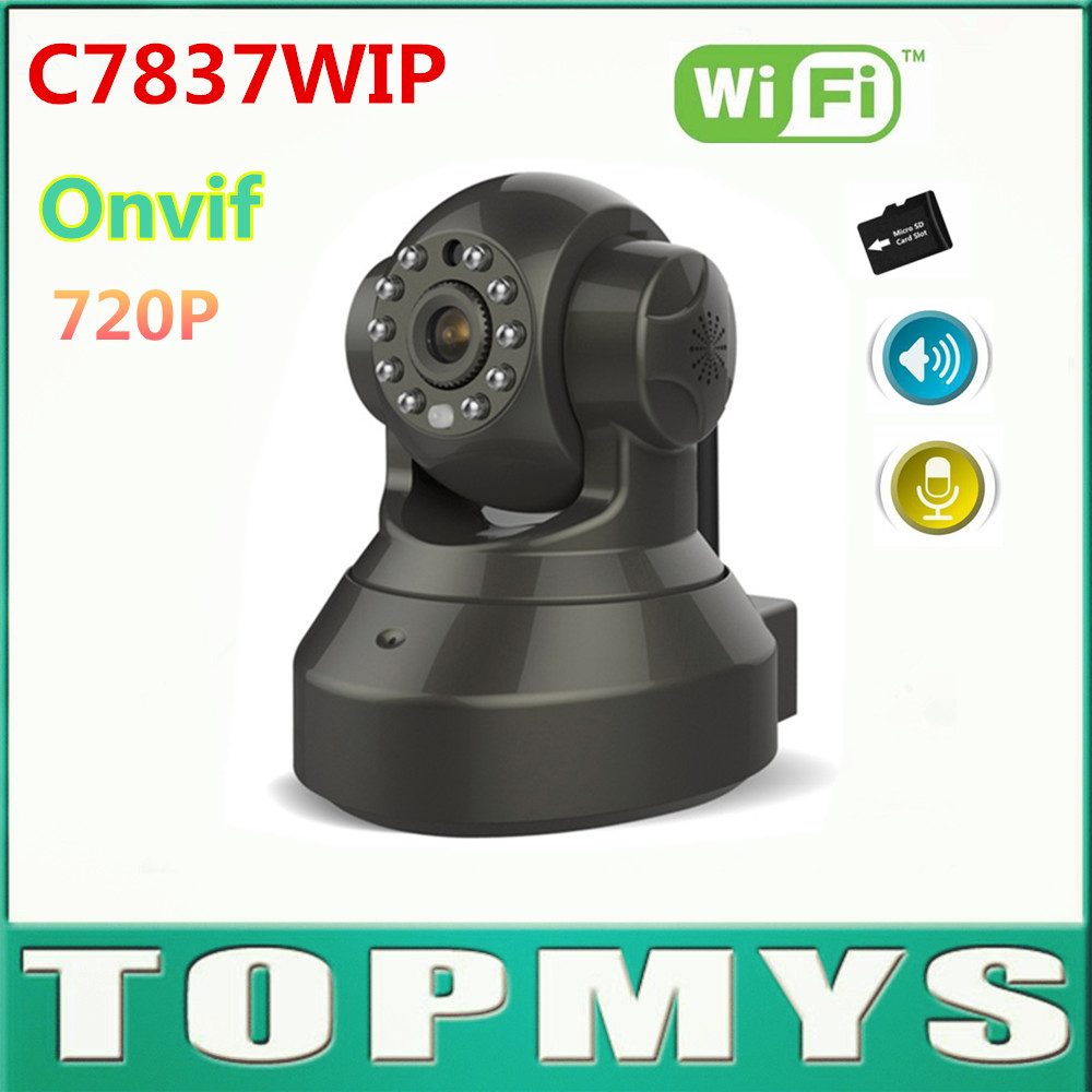 Free Shipping 10pcs/lot VStarcam C7837WIP 720P Wifi IP Camera Day Night Vision IOS Android APP Home Security CCTV WIFI Camera