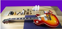 1959 R9 Les Тигр Пламя Paul электрогитара Стандартный LP 59 Электрогитара в наличии EMS бесплатная доставка
