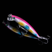 1PCS Hard Lure 7cm 5g Laser Wobblers Fishing Tackle 3D Eyes Floating Minnow Fishing Lure Crankbait Fishing Accessories Pesca