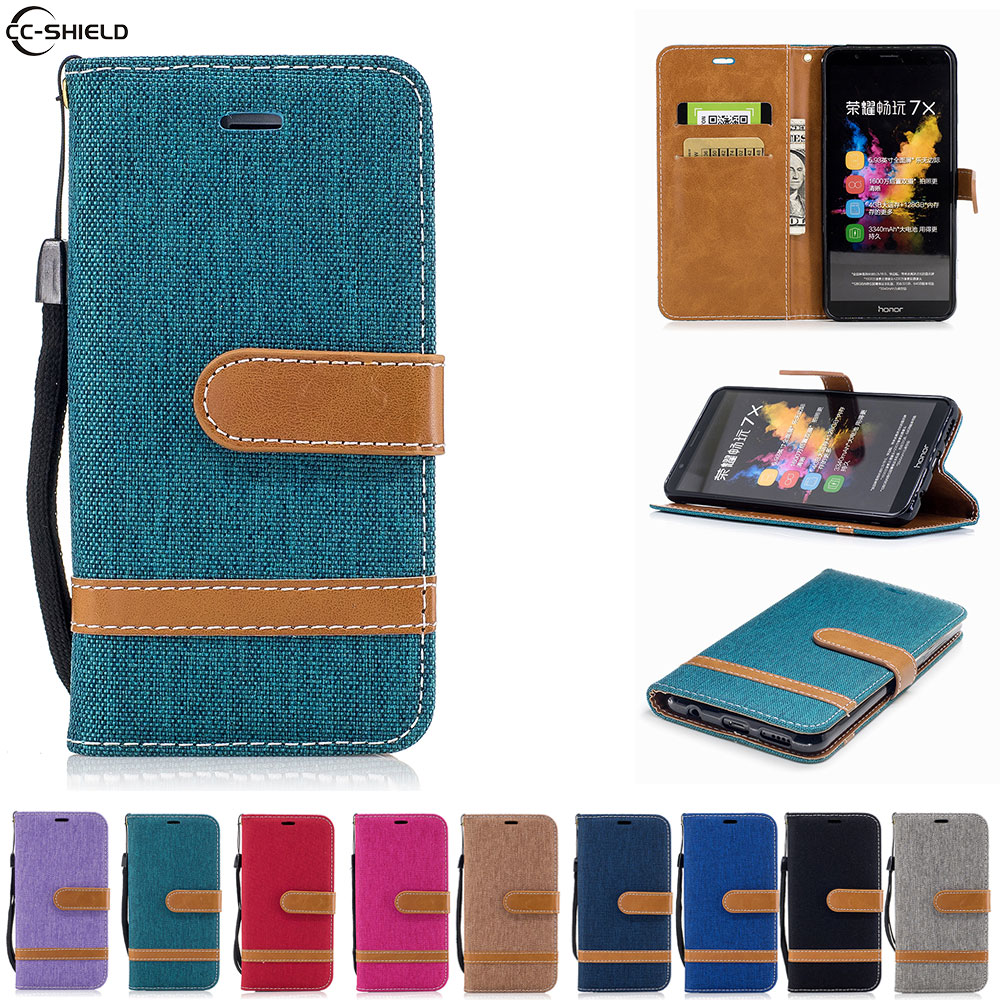 Galleria fotografica Flip Case For Huawei <font><b>Honor</b></font> <font><b>7X</b></font> 7 X X7 Case Phone Leather Cover Honor7X BND-L21 BND-L22 BND-L24 BND L21 L22 AL10 TL10 bag silicon