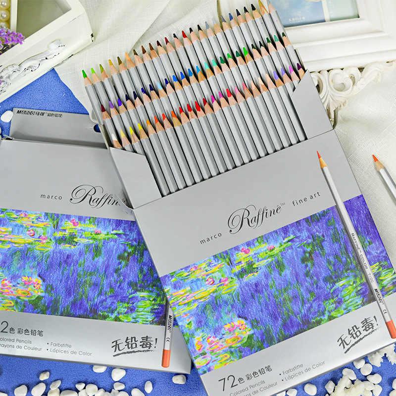 Marco Raffine Fine Art ดินสอสี 72 สีวาดภาพวาด Mitsubishi ดินสอสีอุปกรณ์ Secret Garde ดินสอ