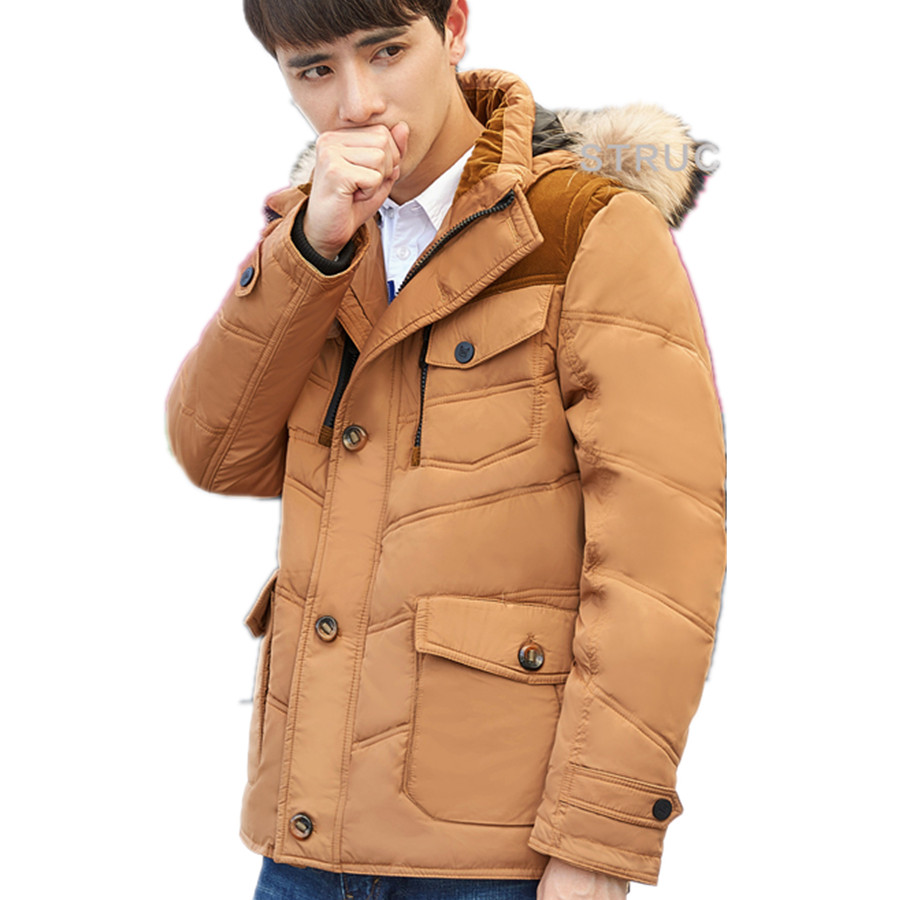 Size M-3XL New Mens Casual Thick Winter Warm Snow White Duck Down Jacket Coat For Men Winter, 3 Colors,J8001,Free Shipping