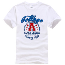 DERMSPE 2018 Gollege Alpha Cheers T shirt Men Women ann 35-40code