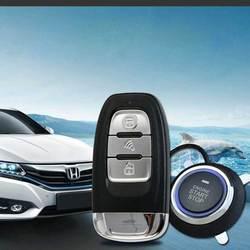 Alarm samochodowy PKE System z dostęp bezkluczykowy zdalny  silnik rozpocząć pojazd uniwersalny centralny zamek z Alarm iść wstrząsy ostrzegają przycisk