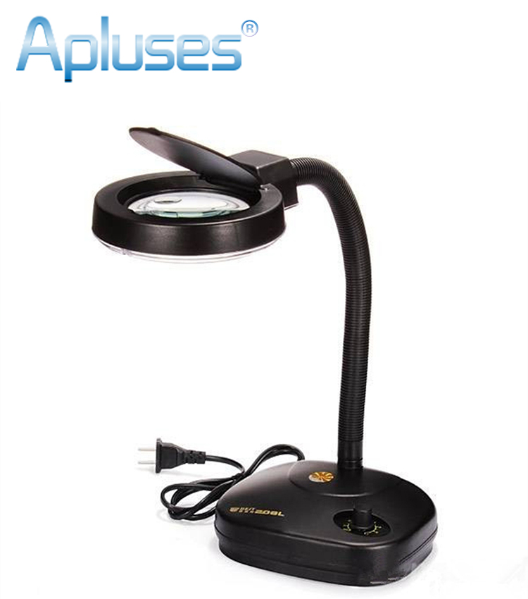 Adjustable Magnifier 36 LED Glass Lighting Table Lamp 110 220V 5x Or 10x  Magnifying Glass Desk Lamps