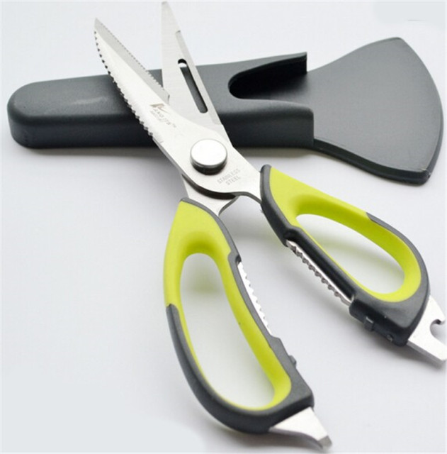 Best Stainless steel kitchen Scissors shears multifunction cutter chicken bone fish kitchen Accessories gadgets cooking tools