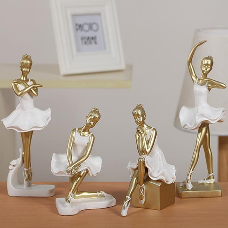 Statue de ballerine, artisanat créatif, statue de figure, articles d'ameublement en résine