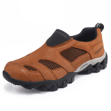 2016 New Men Trekking Shoes Autumn Winter Leather Slip On Outdoor Aquatwo Walking Shoes US5.5-13 Plus Size Shoes Men New Arrival