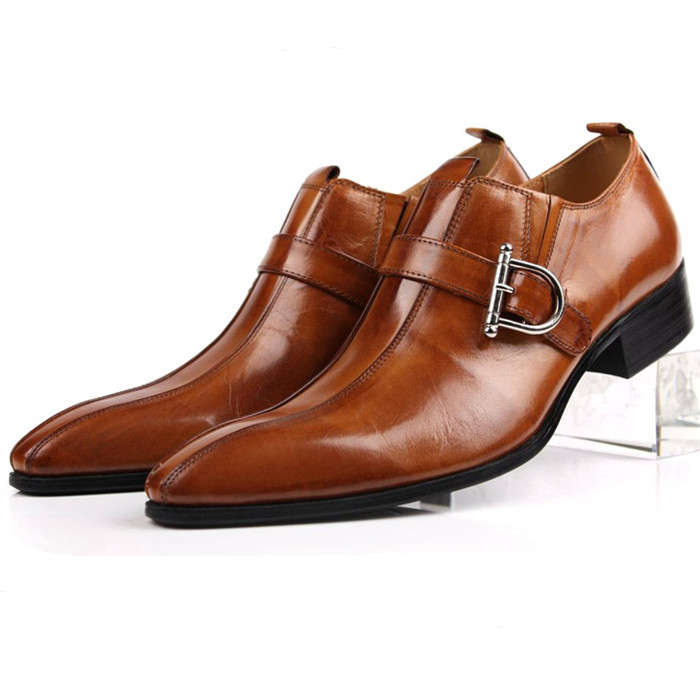 Large size EUR45 Brown/black pointed toe summer loafers men dress shoes genuine leather formal business shoes mens wedding shoes choudory new winter men ankle italian shoes men leather shoes pointed toe mens black dress shoes sequined toe spiked loafers men