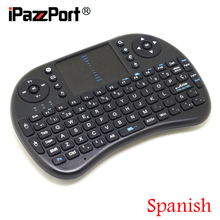 [Free DHL] Mini 2.4G Wireless Spanish(Espanol) Keyboard+Air Mouse+TouchPad for Google Android TV Box/PC High Quality – 100pcs