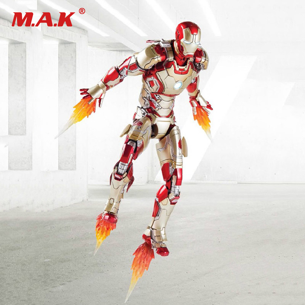 1/12 Scale Metal Iron Man MK42 Action Figure With Sofa Set LED Function Collectible Figure Set 1 6th scale figure accessory iron man headsculpt tony stark head shape for 12 action figure doll not included body and clothes