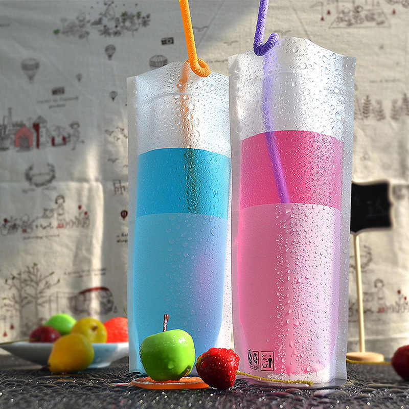 White transparency packaging bags Fruit juice beverage zip plastic bag Stand up bottom Milk Tea Leak proof storag 100pcs 12*24+4