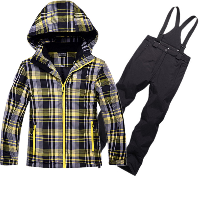 Children Ski Jacket Pants Winter Ski Suit for Kids Waterproof Breathable Snowboarding Snow Suits Boys Girls Outdoor Sports Suits new winter yoga suit five piece female ms breathable coat of cultivate one s morality pants sports suits running fitness