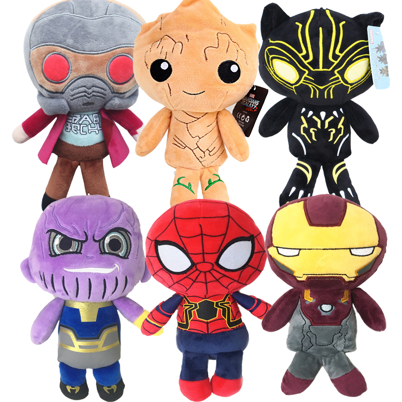 20cm The Avengers 3 Plush Toys Iron Man Deadpool Thanos Spiderman Stuffed Plush Toys Super Hero Doll Soft Toy