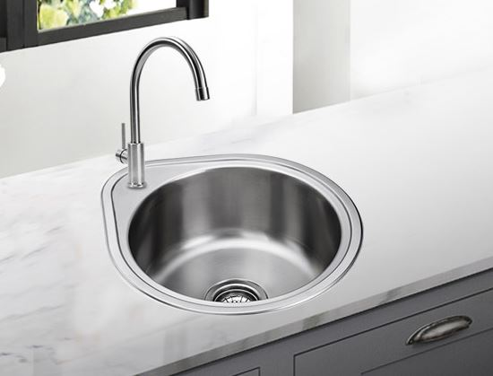 Free Shipping 304 Round Stainless Steel Kitchen Vegetable Washing Basin  Single Package Small Bar Sink Drawing Thickening Tank In Kitchen Sinks From  Home ...